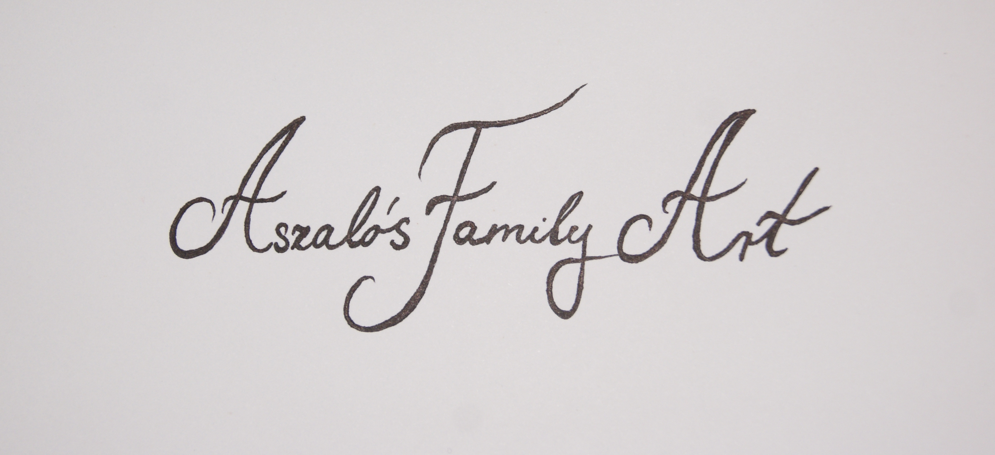 AszalÓs Art Family's Signature
