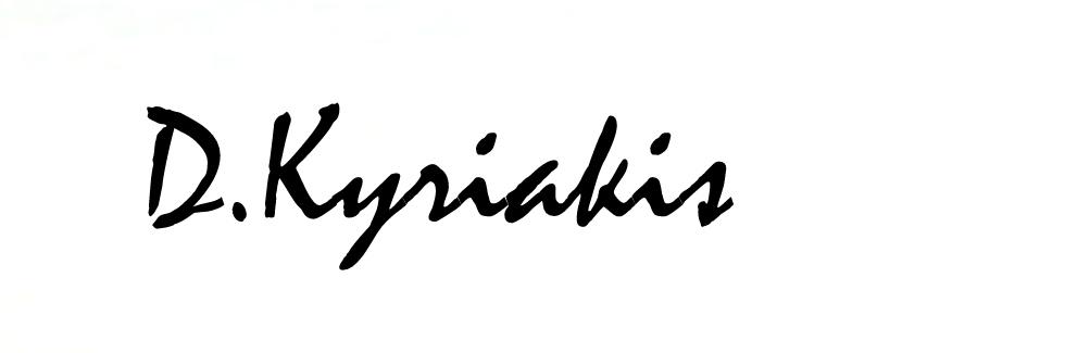 Dimitris Kyriakis's Signature