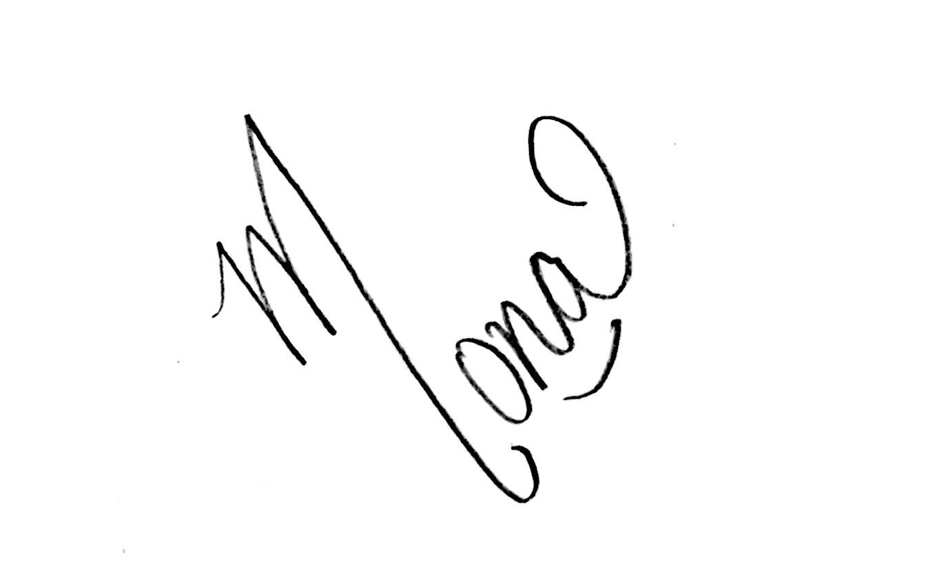Mona Chopra's Signature