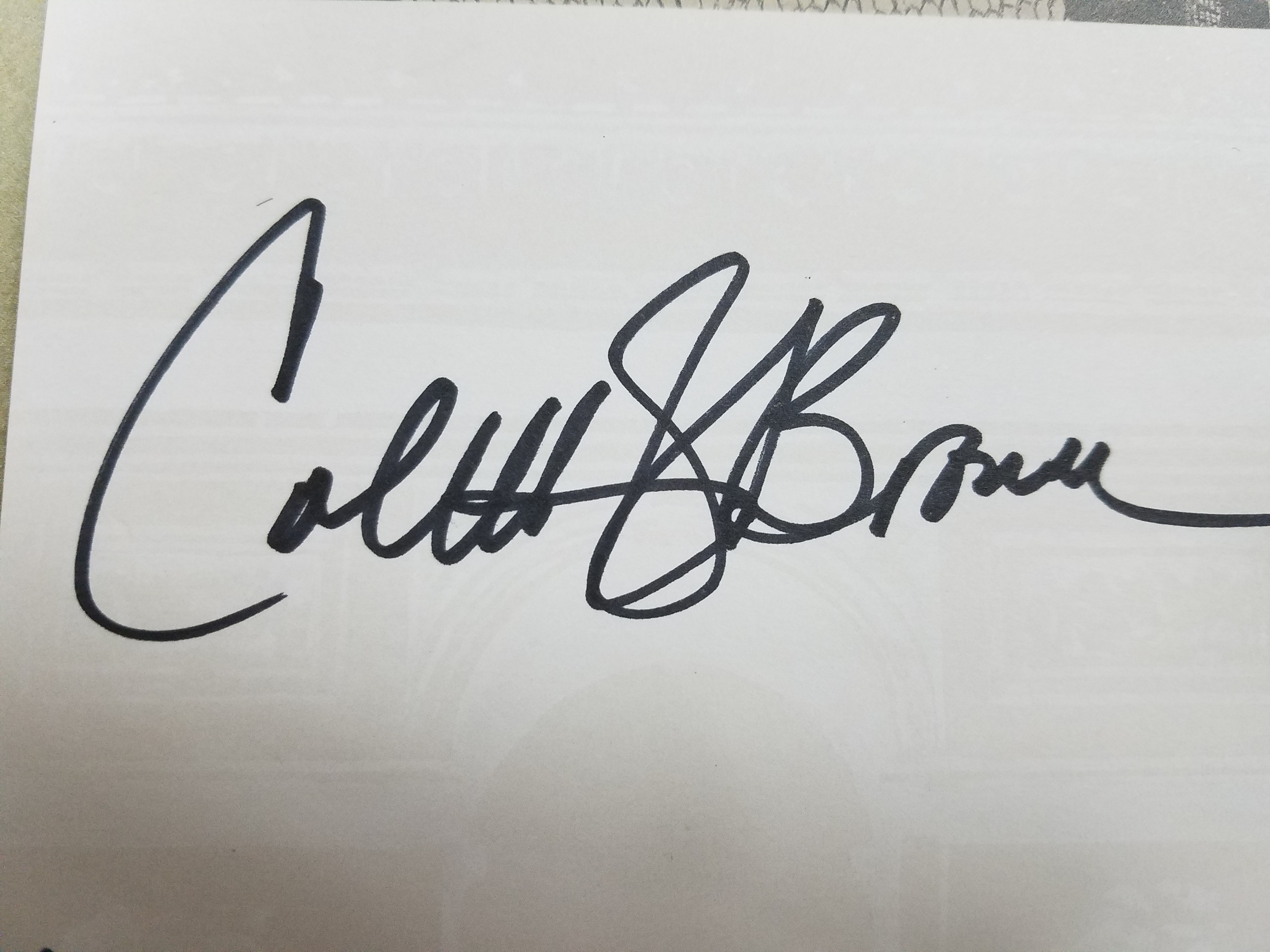 Coletti Brown's Signature