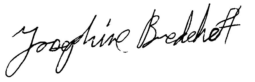 Josephine Bredehoft's Signature