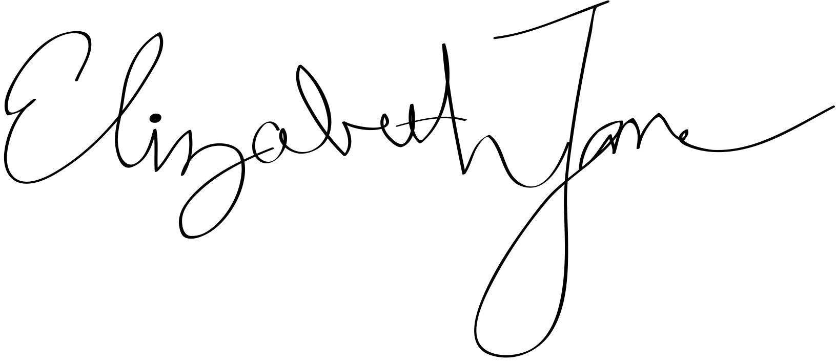 Elizabeth Jane's Signature