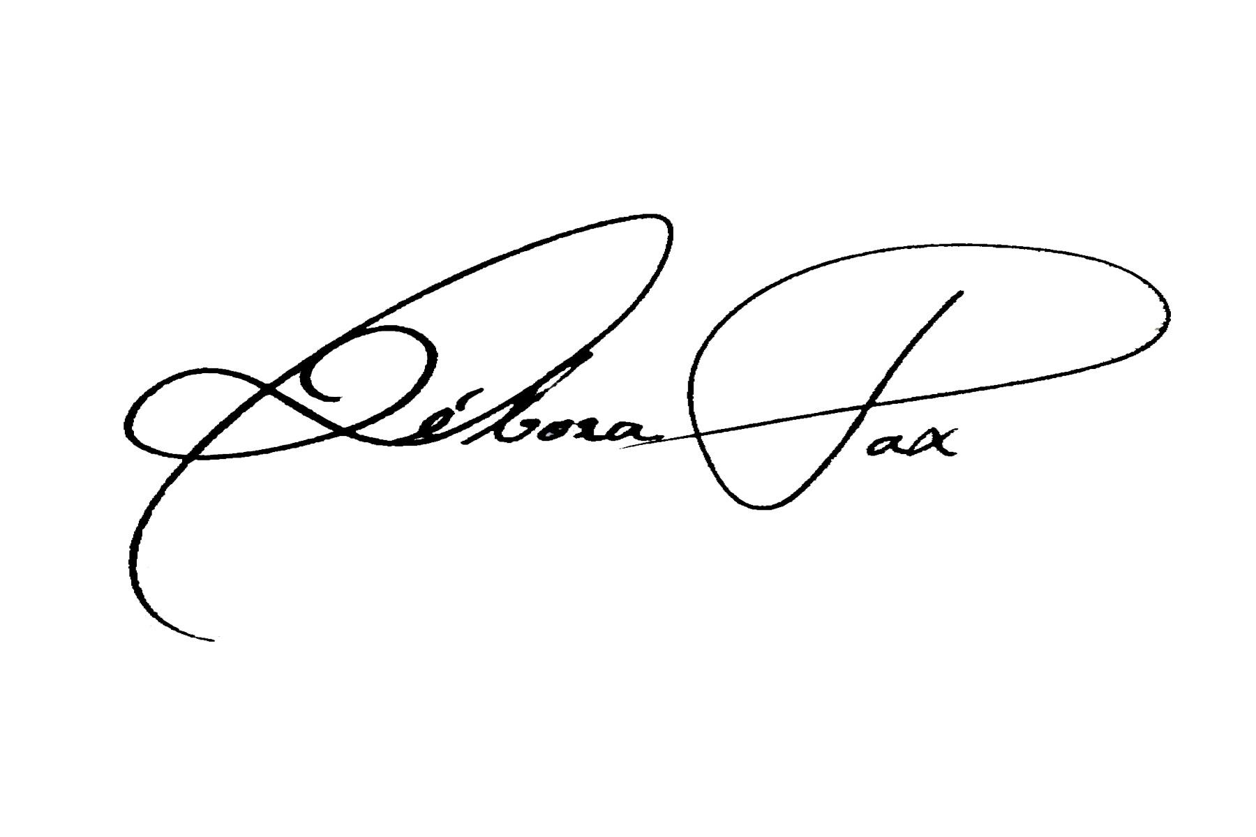 Débora Pax's Signature