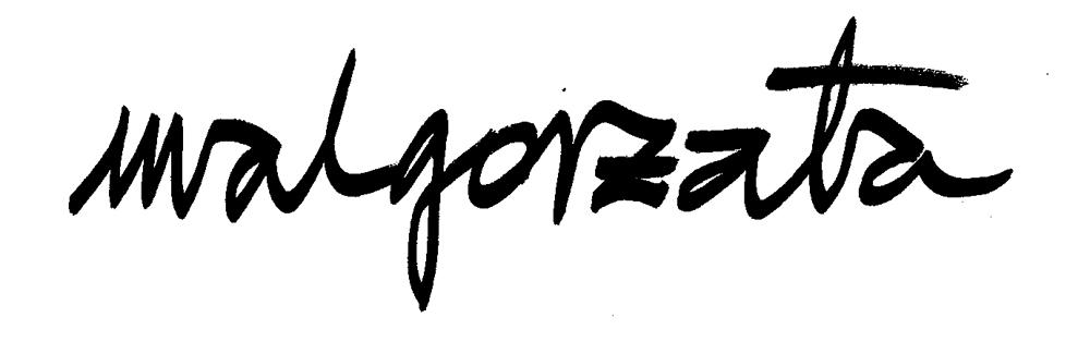 Malgorzata Malzacher's Signature