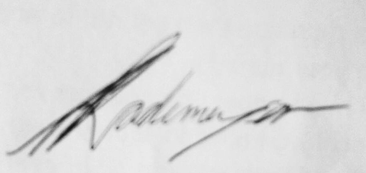Ria Rademeyer's Signature
