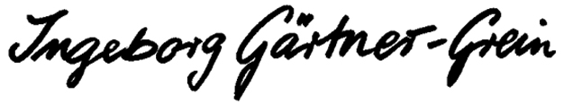 Ingeborg Gärtner-Grein's Signature