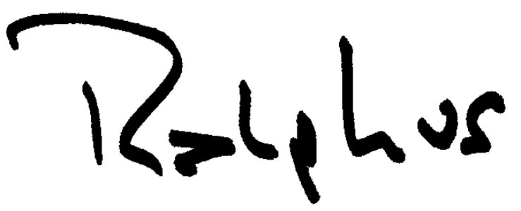 Ralph Swalsky's Signature