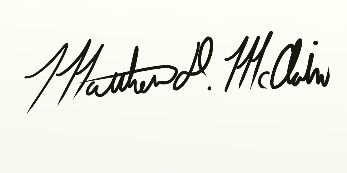Matthew McClain's Signature
