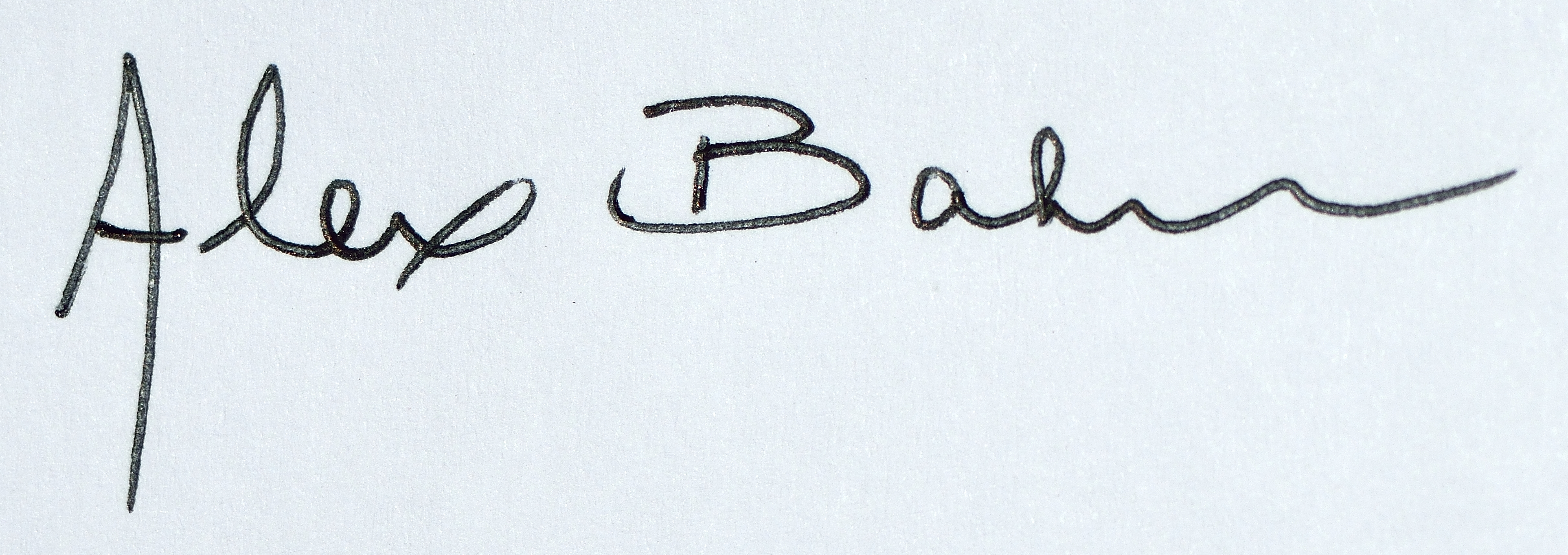 Alex Baker's Signature