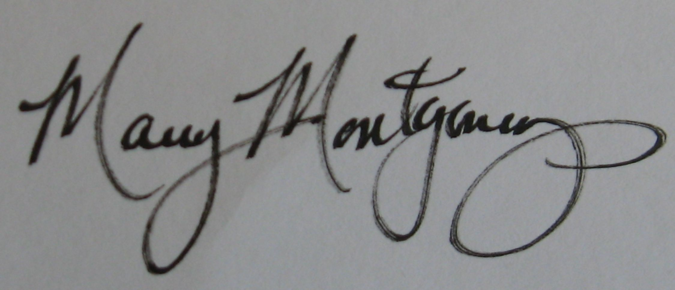 Mary Montgomery's Signature
