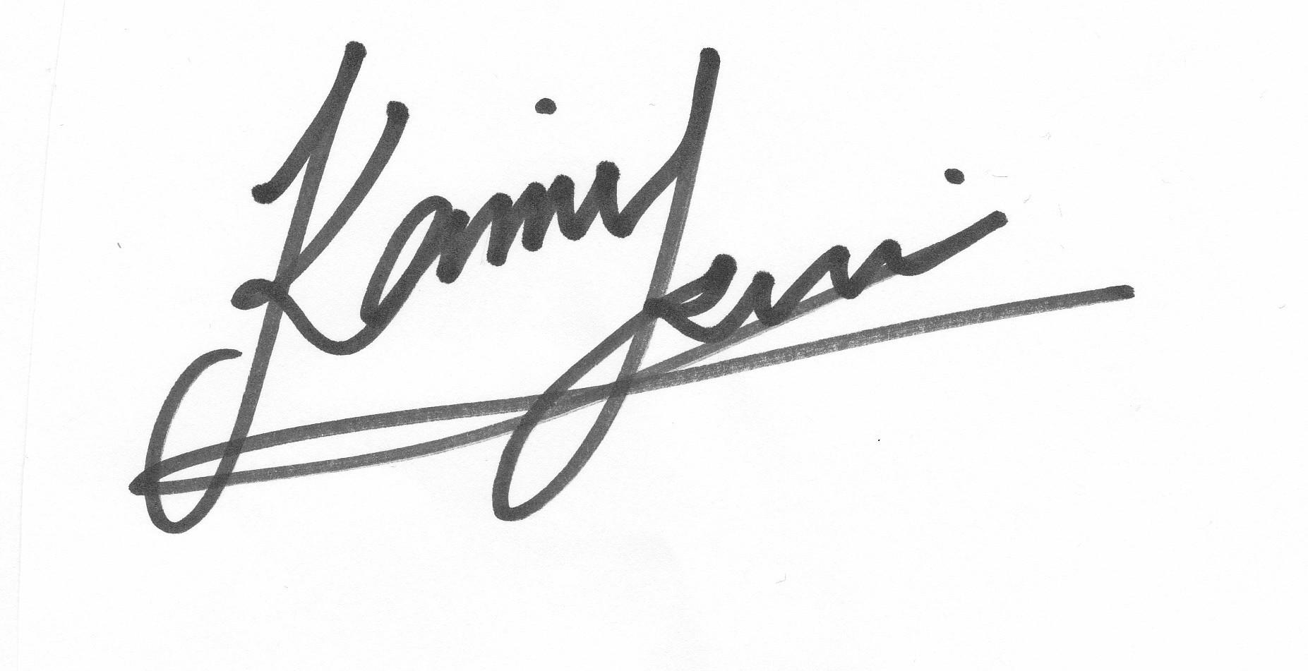 KAMI TSUI's Signature