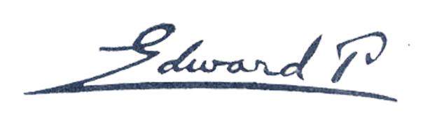 Eduard Pecaj's Signature