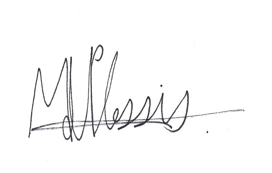 Mia du Plessis's Signature