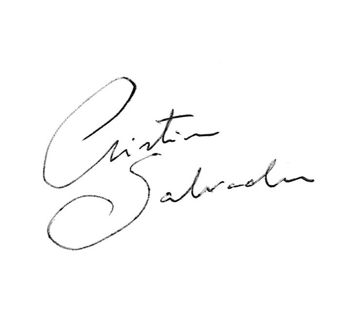 Cristina Salvador's Signature