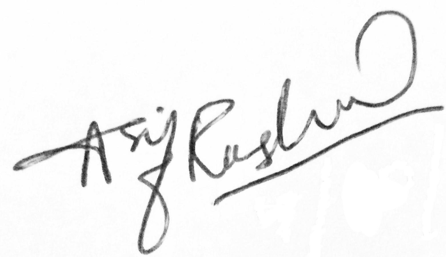 Asif Rasheed's Signature