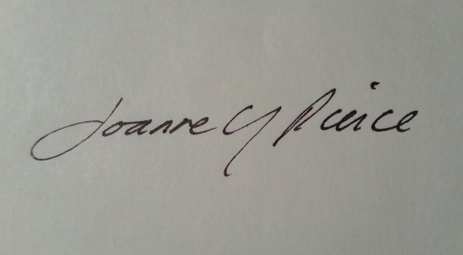 Joanne Pierce's Signature