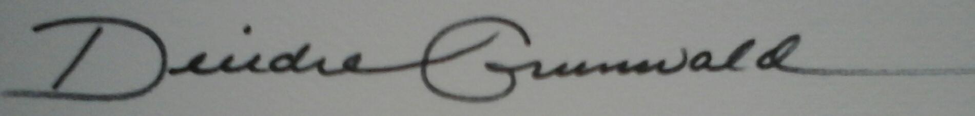 Deirdre Grunwald's Signature