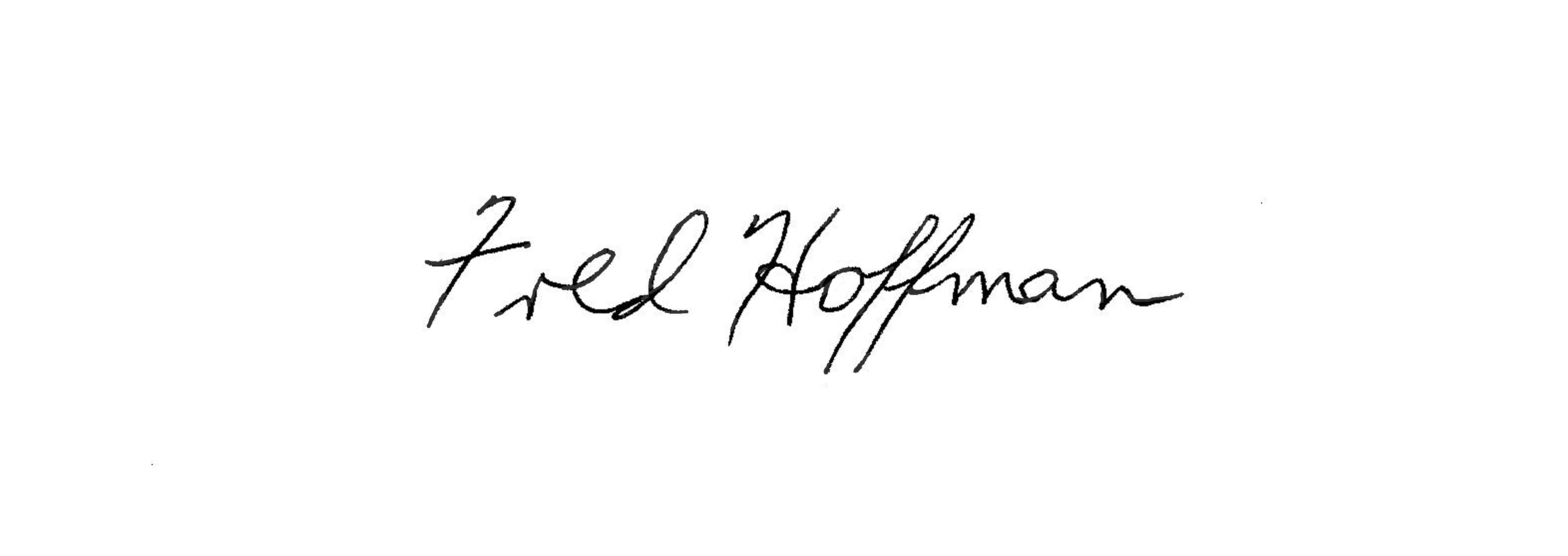 Fred Hoffman's Signature