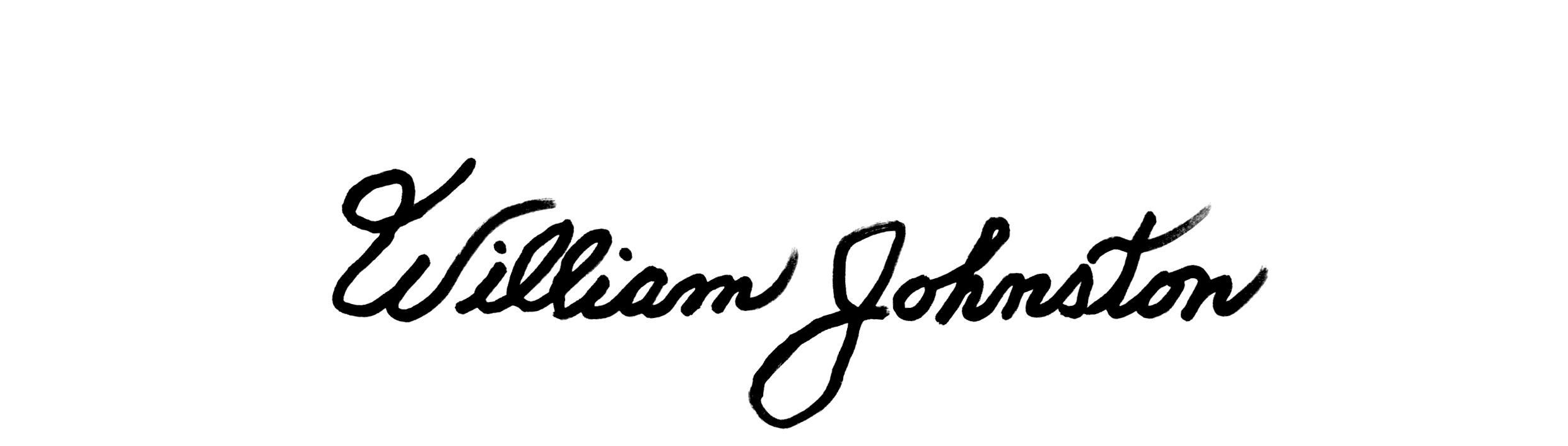 William Johnston's Signature