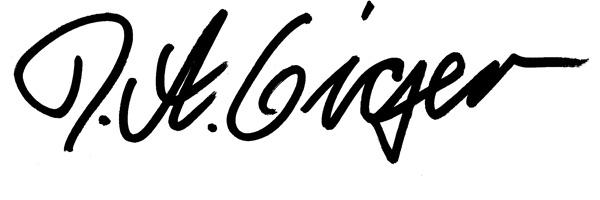 David Aeneas Giger's Signature