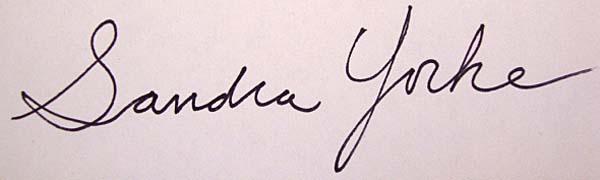 Sandra Yorke's Signature