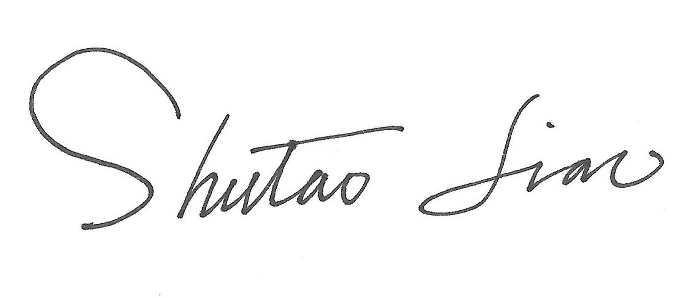 Shutao Liao's Signature