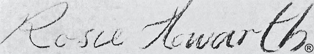 Rosemary Howarth's Signature