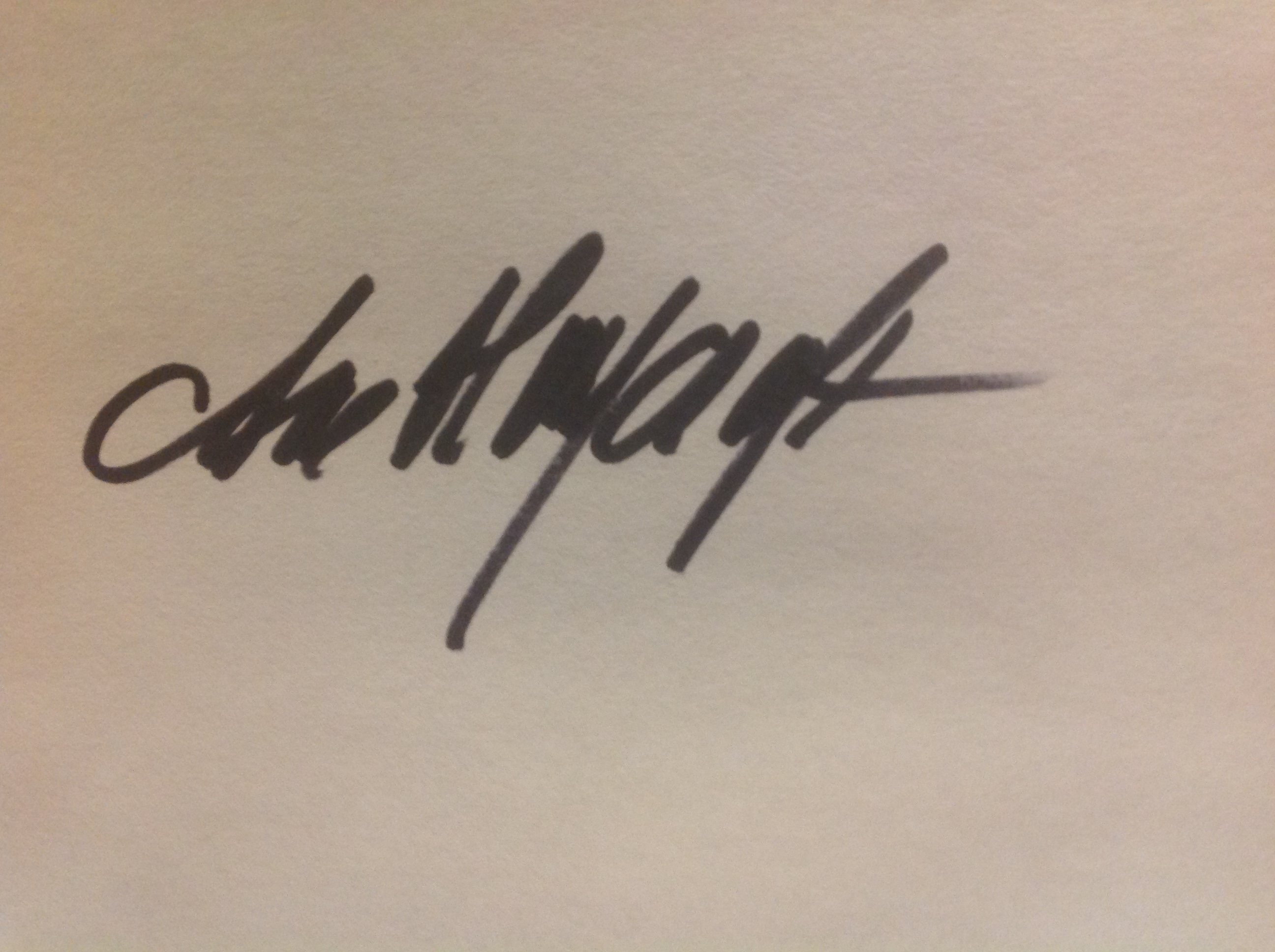Ane Haycraft's Signature