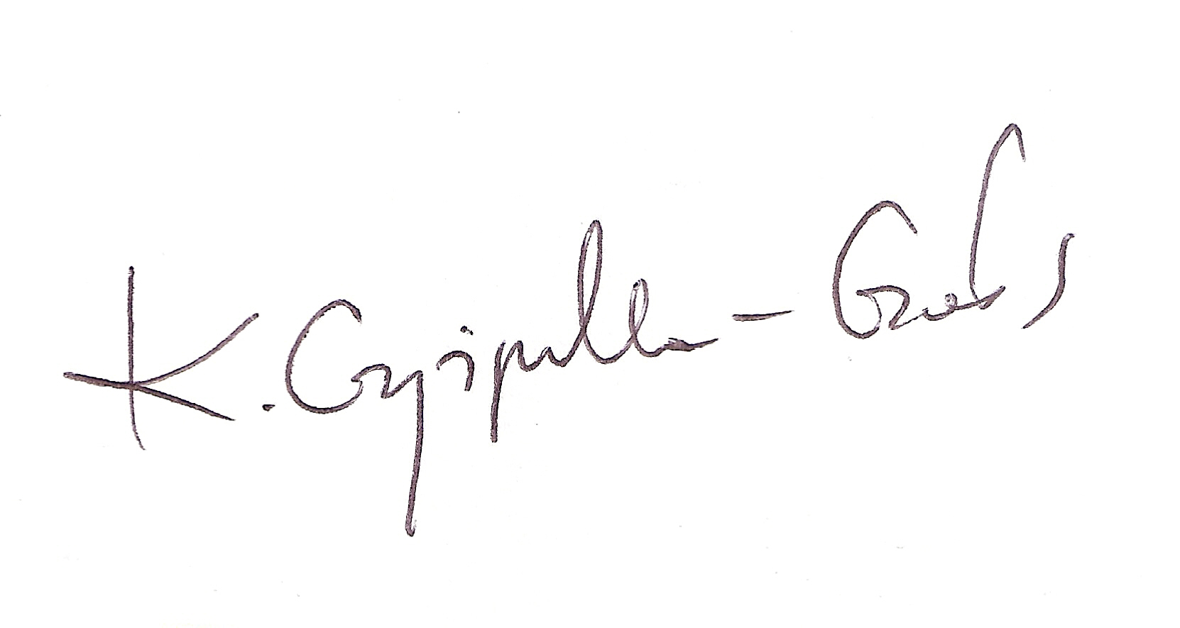 Katarzyna Czyżyńska - Gołos's Signature