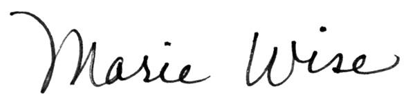 Marie wISE's Signature