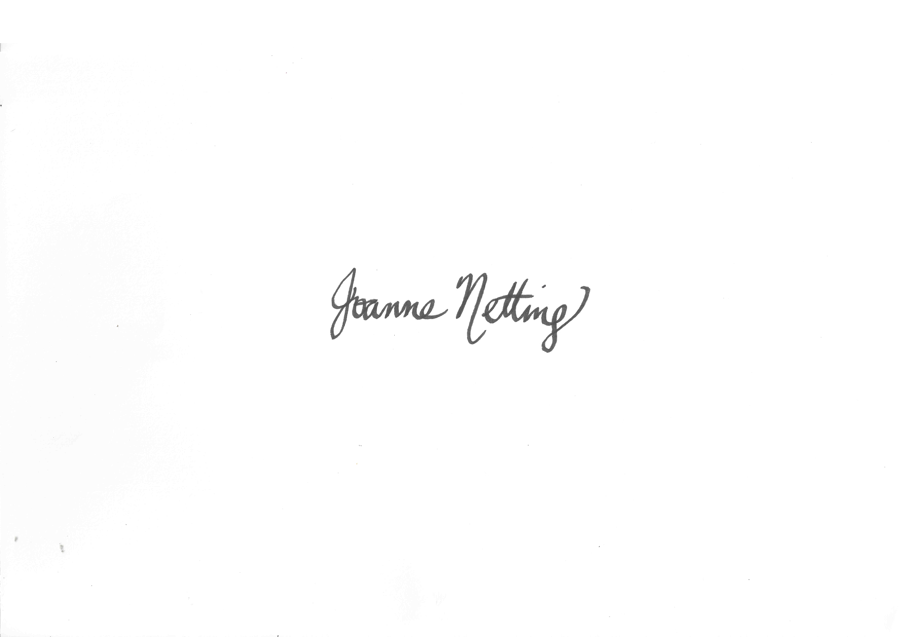 Joanne Netting's Signature