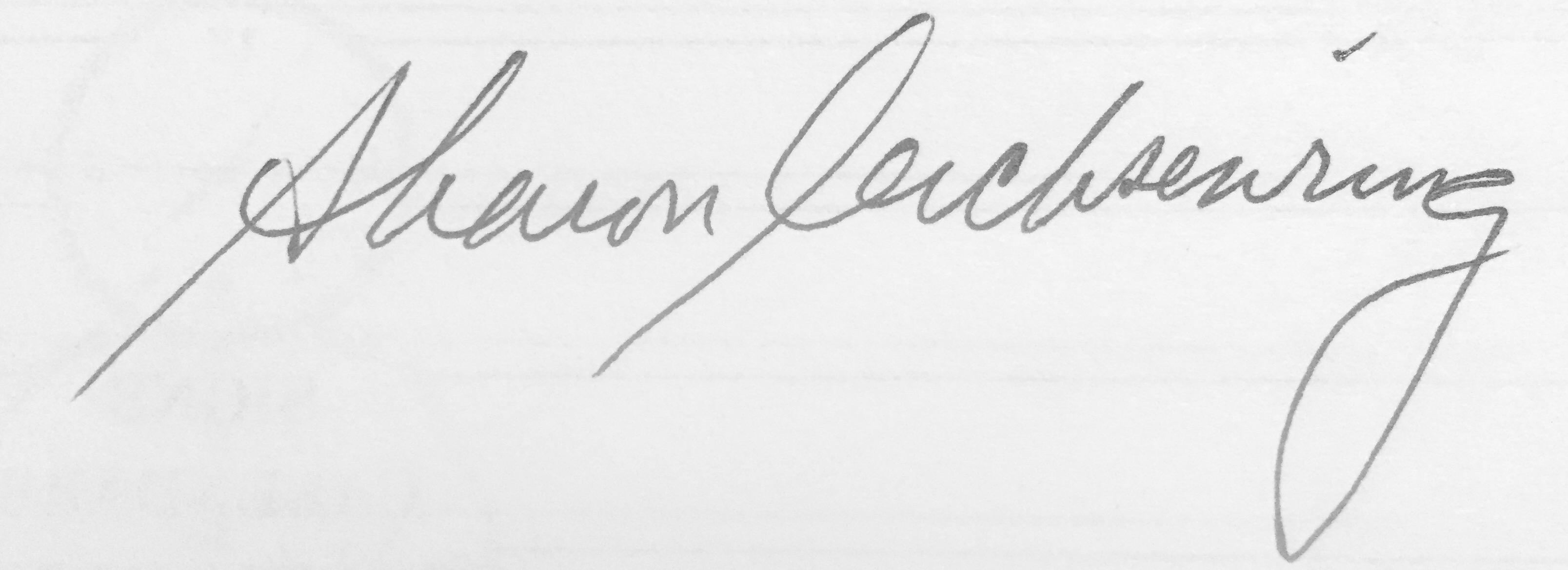 Sharon Leichsenring's Signature