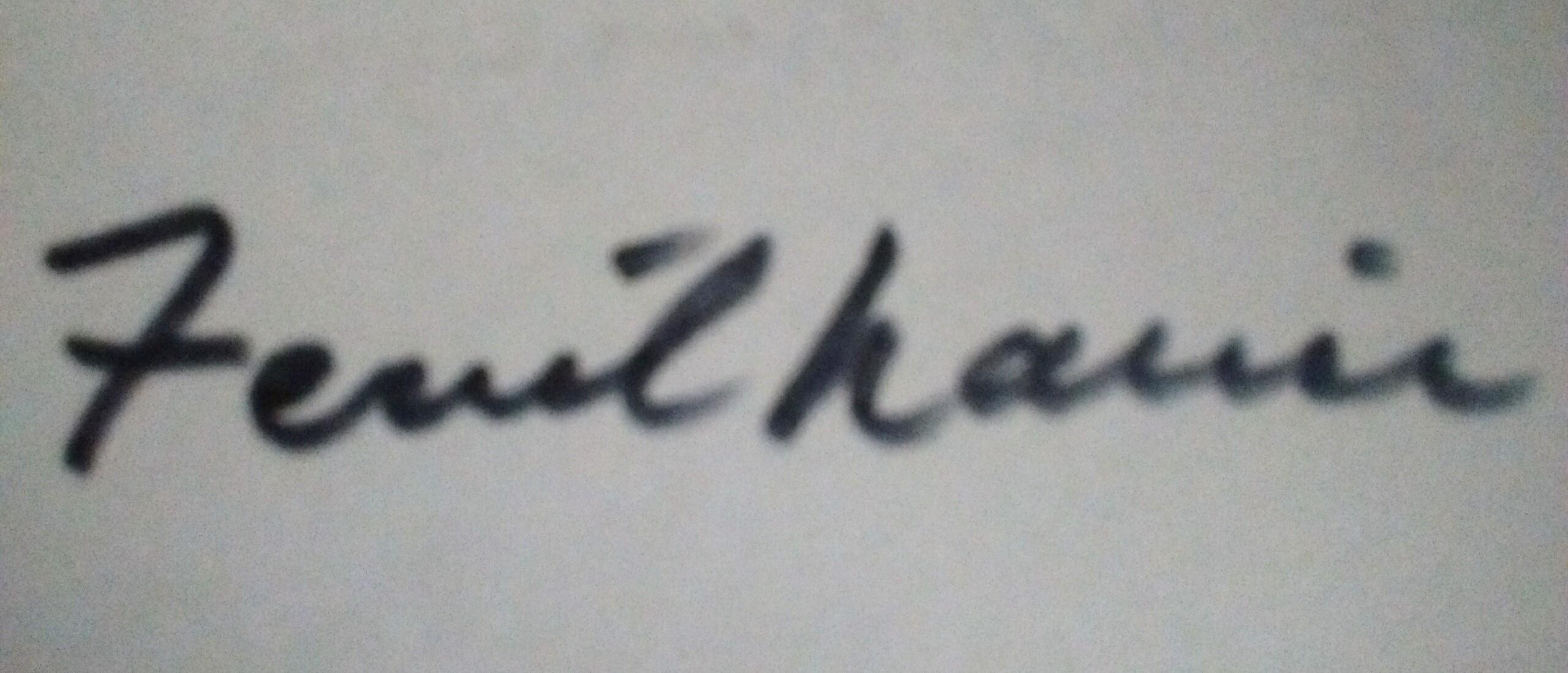 Ferril Nawir's Signature