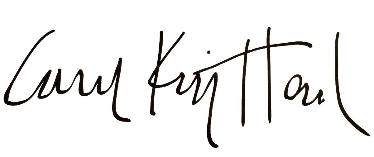Carol King Hood's Signature
