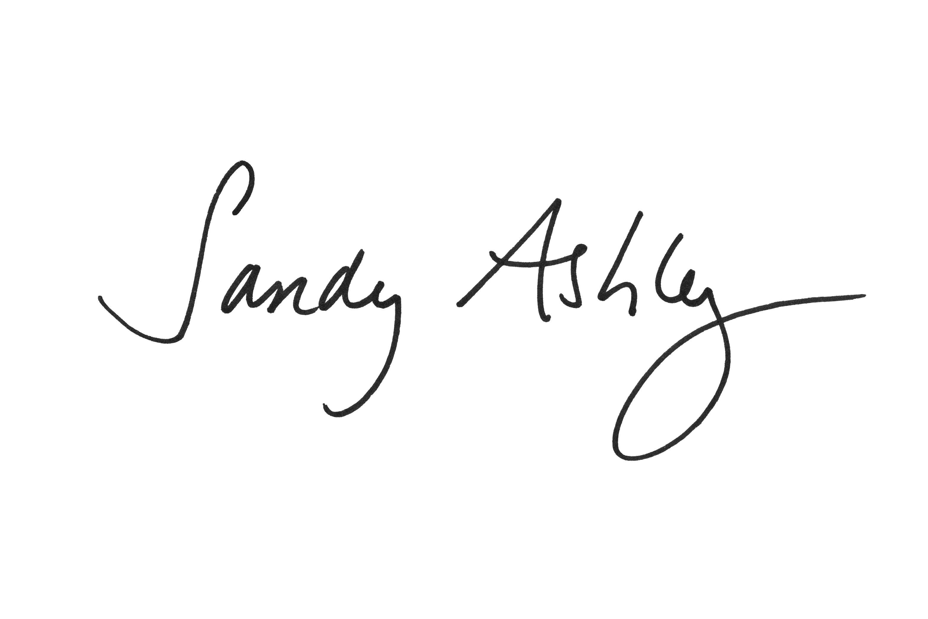 Sandy Ashley's Signature