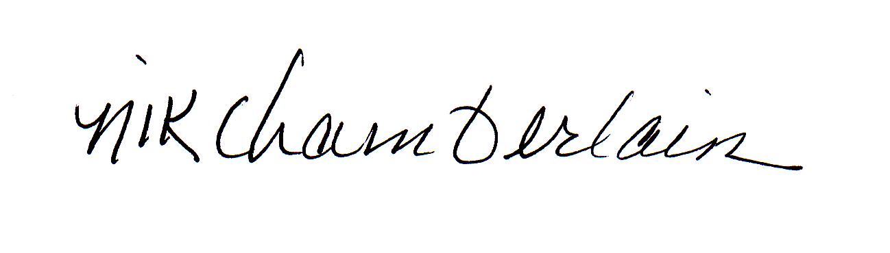 nik chamberlain's Signature