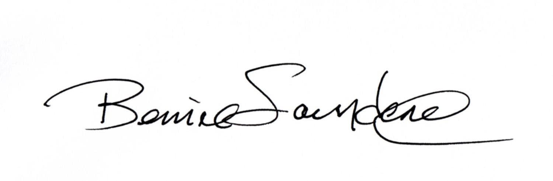 Bernie Saunders's Signature