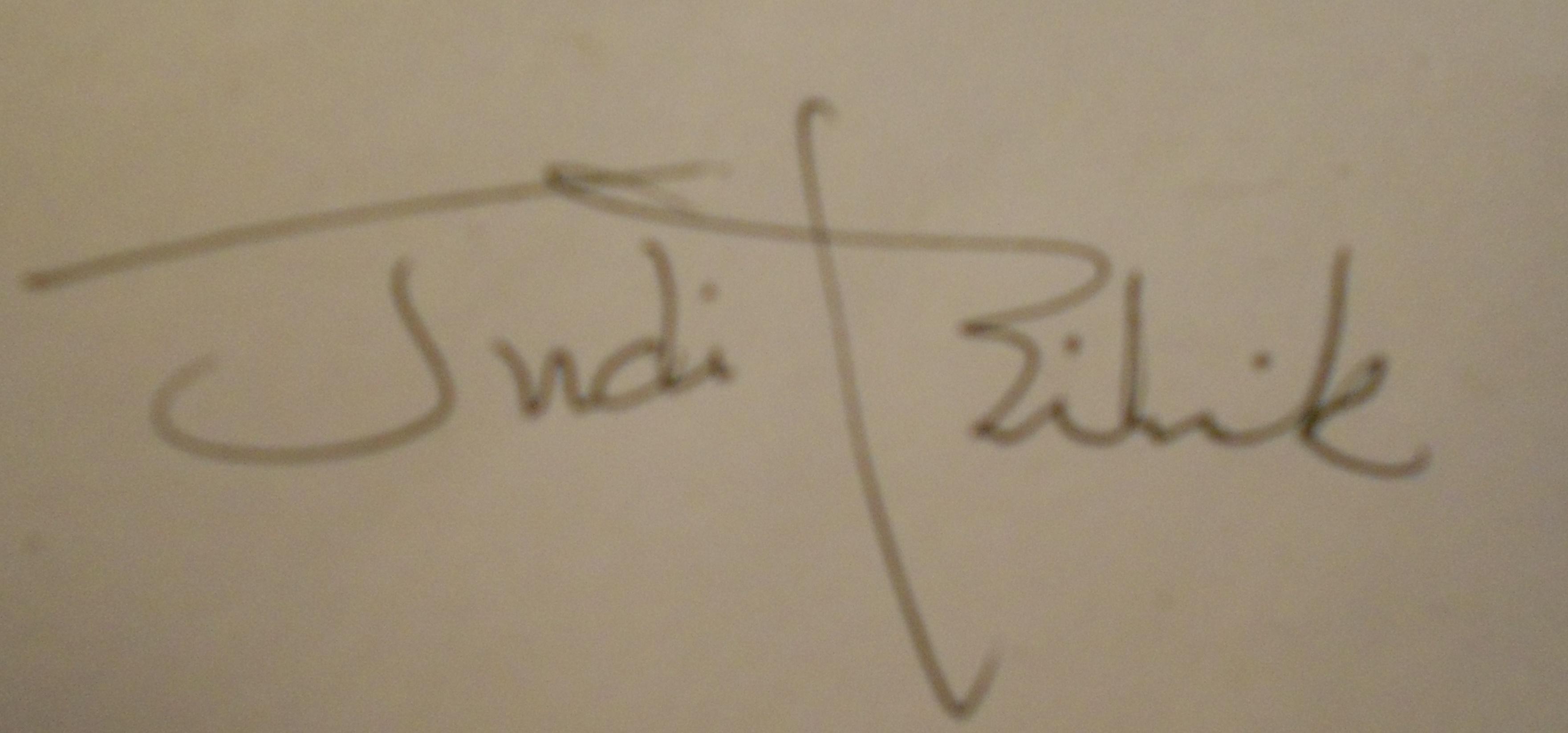 Judith bilick's Signature