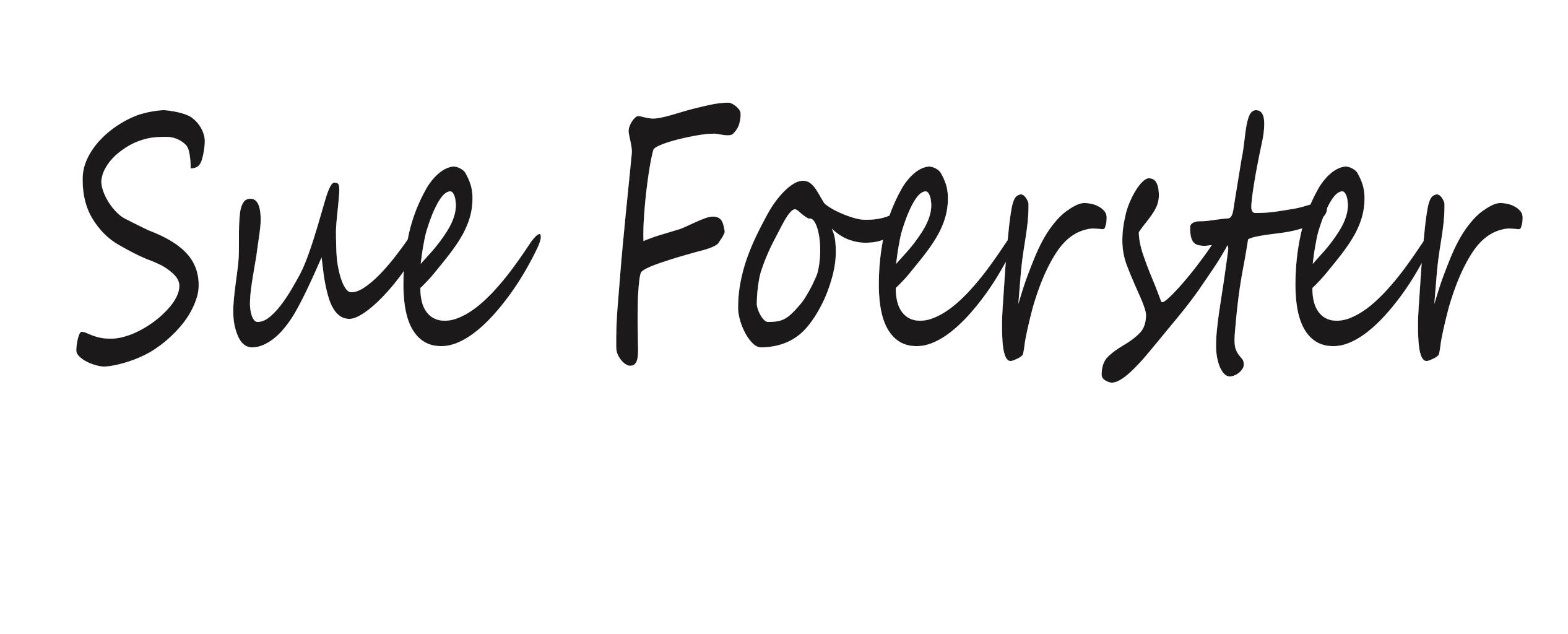 Sue Foerster's Signature