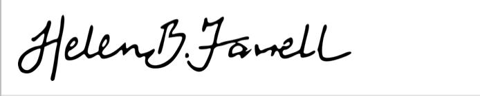 Helen B Farrell's Signature