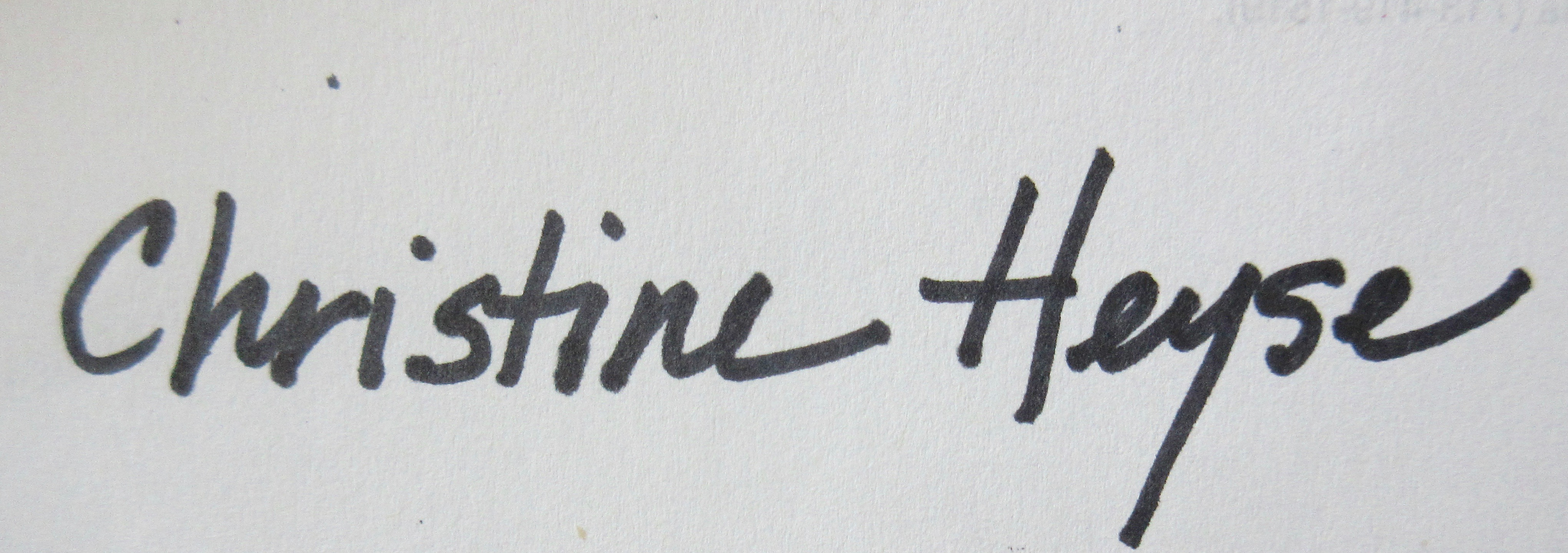 Christine Heyse's Signature