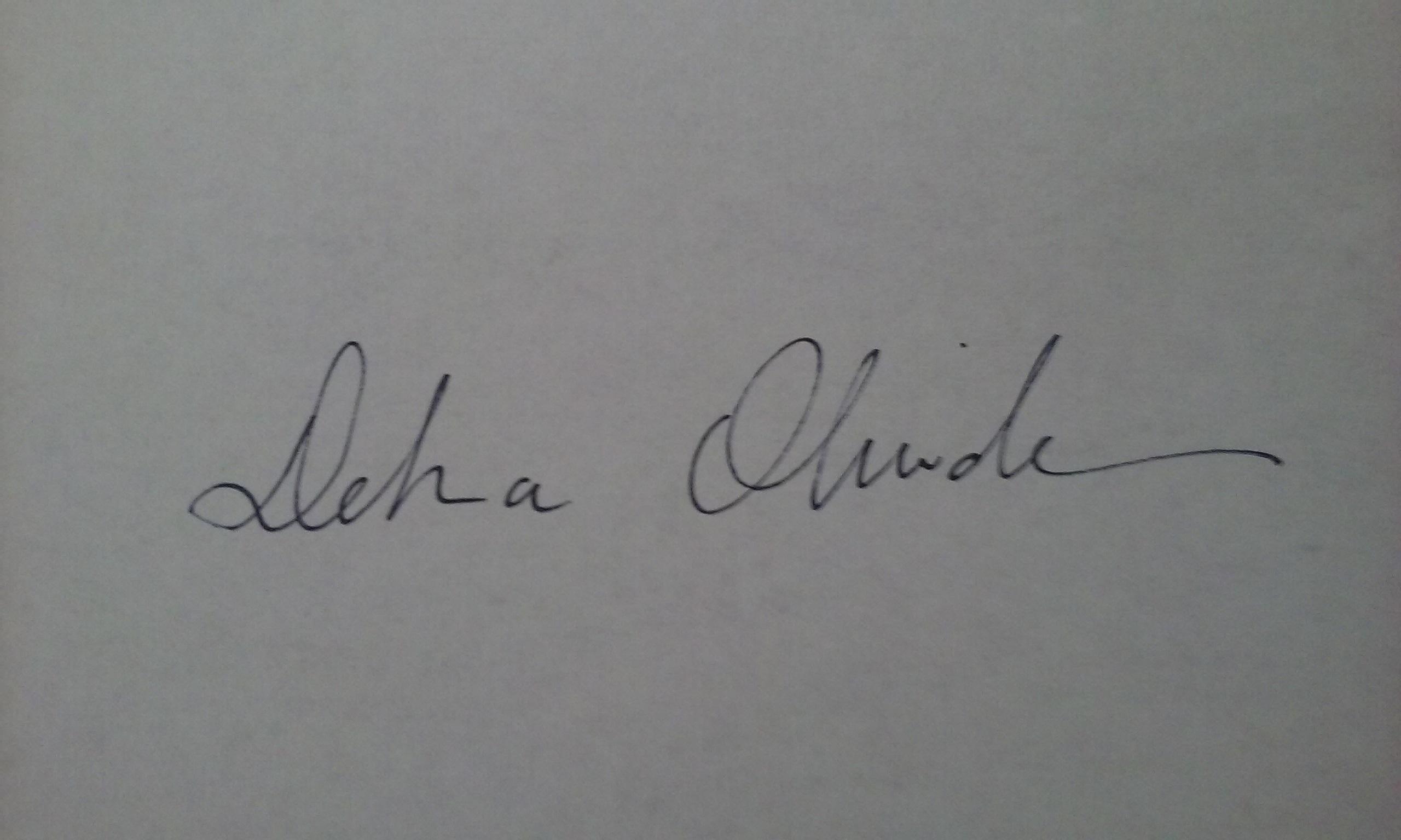 Debra Olivadese's Signature