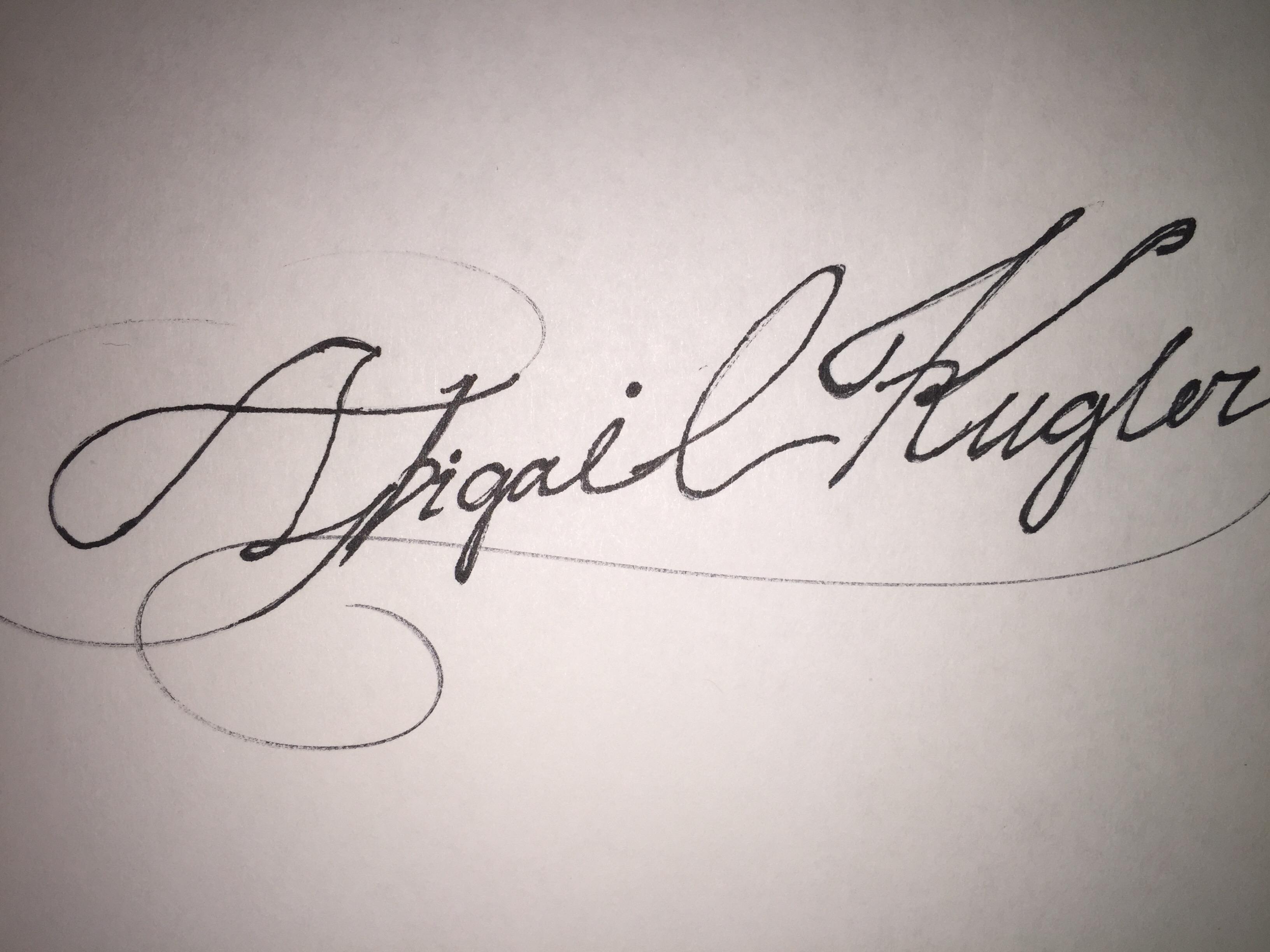 Abigail Kugler's Signature