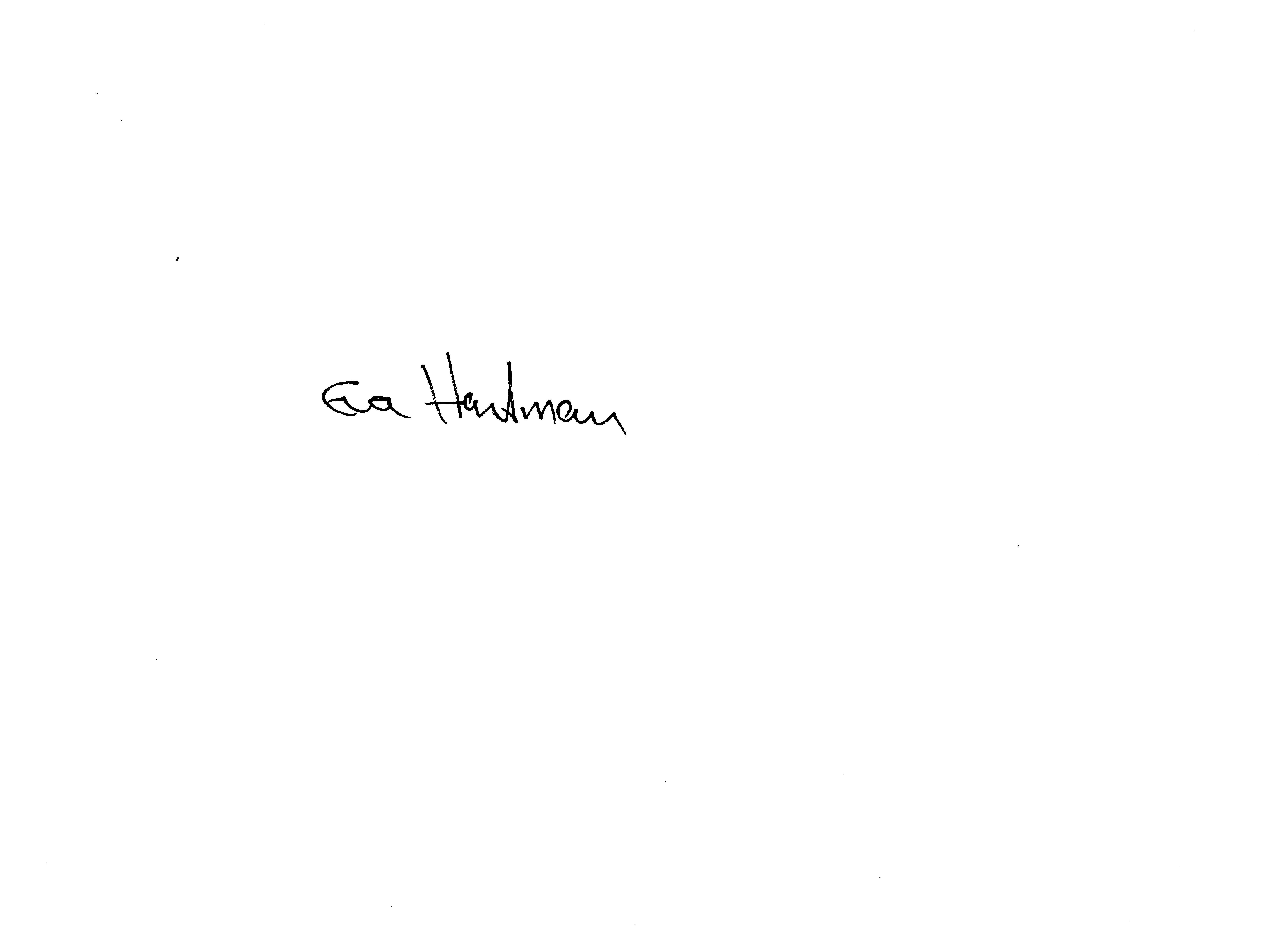 Eva Hartman's Signature