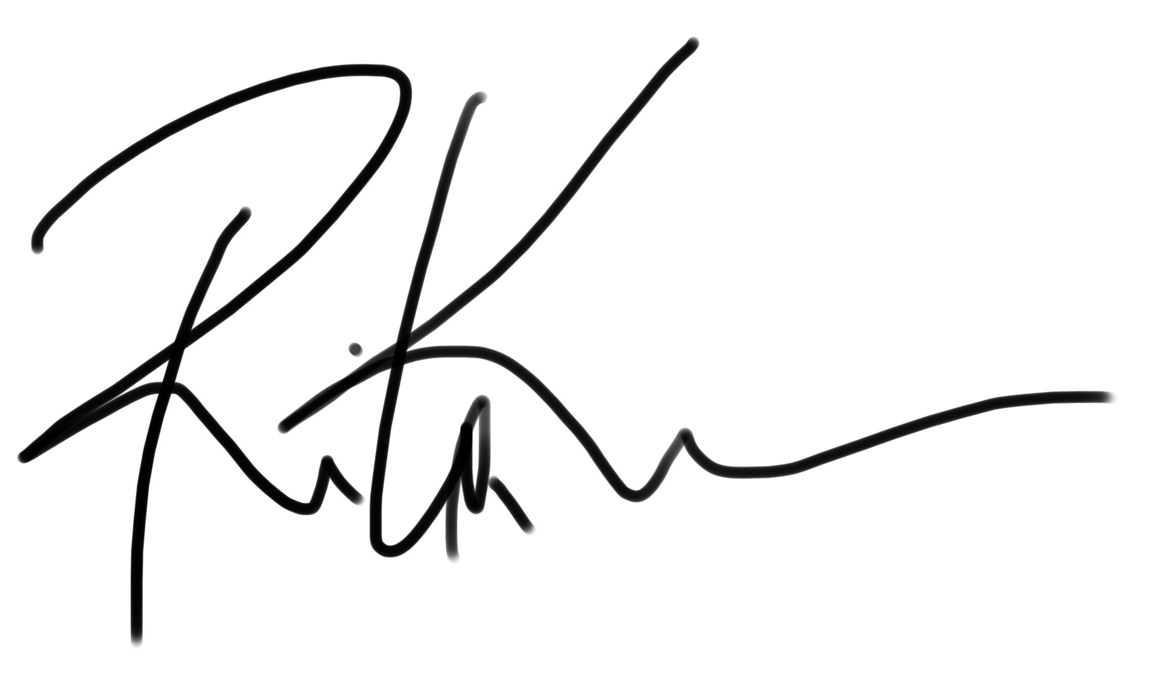 rita karam's Signature