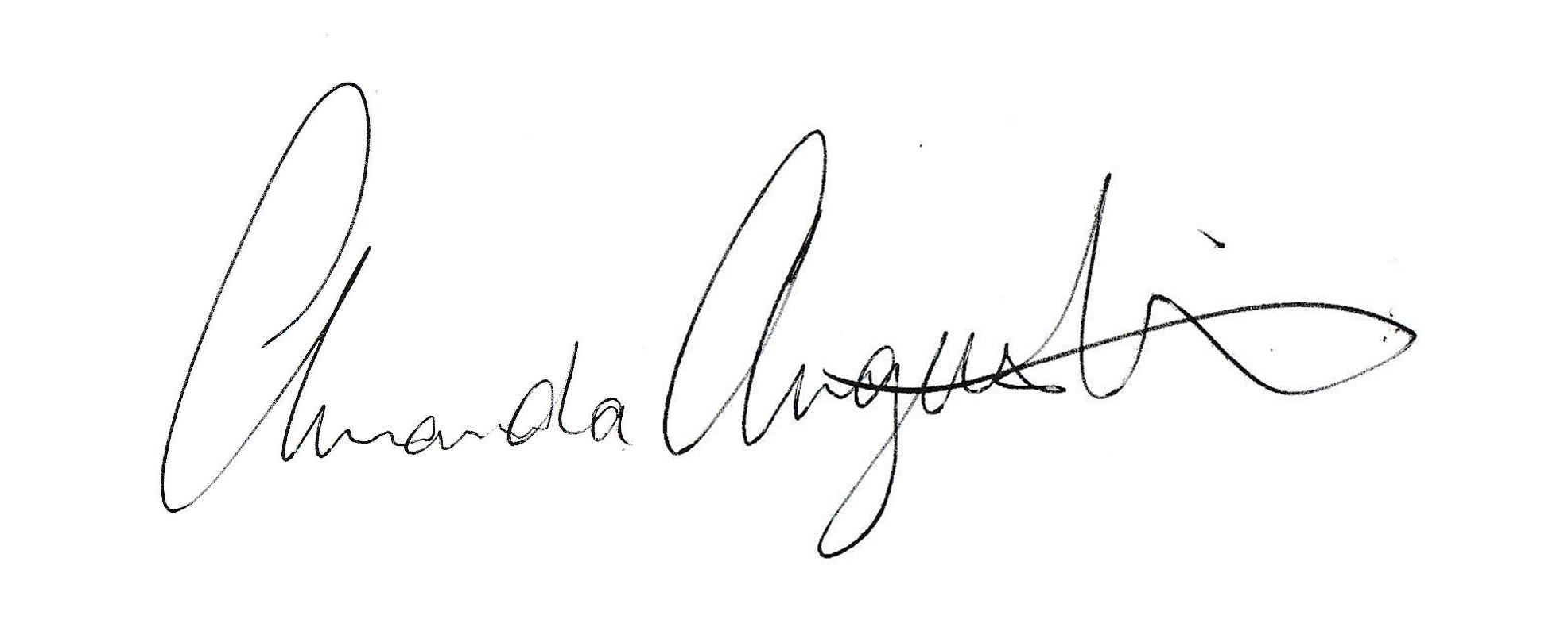 Amanda Augustine's Signature