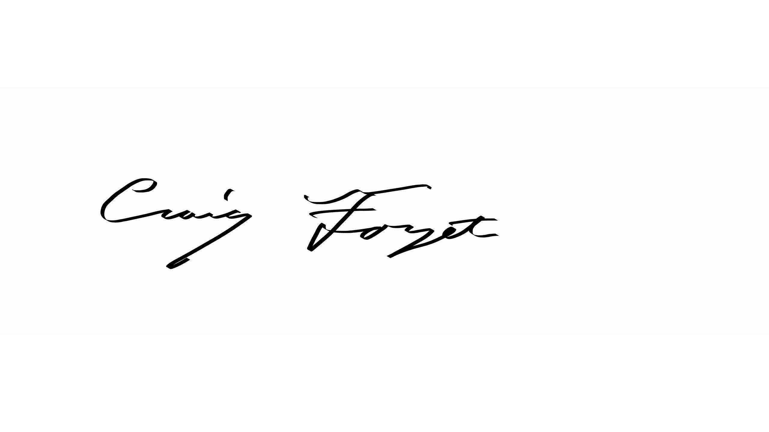 Craig  Forget's Signature