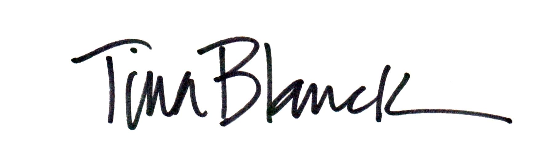 Tina Blanck's Signature