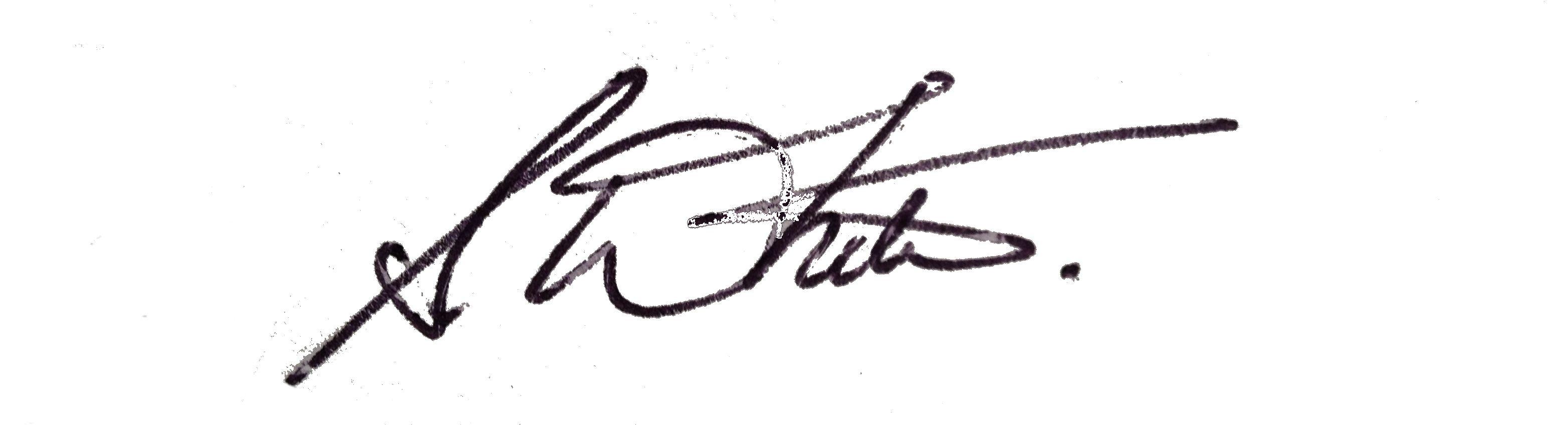 Sarah White's Signature