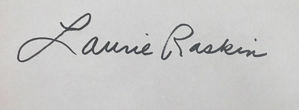 Laurie Raskin's Signature
